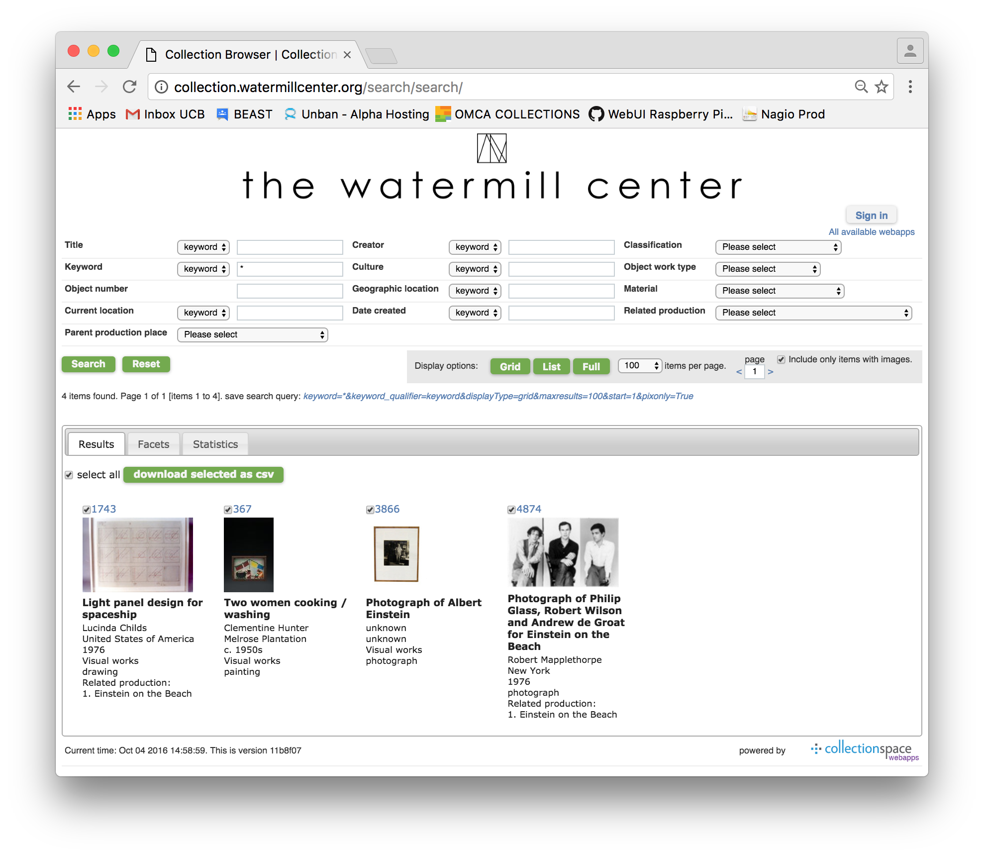 Public search portal at Watermill Center